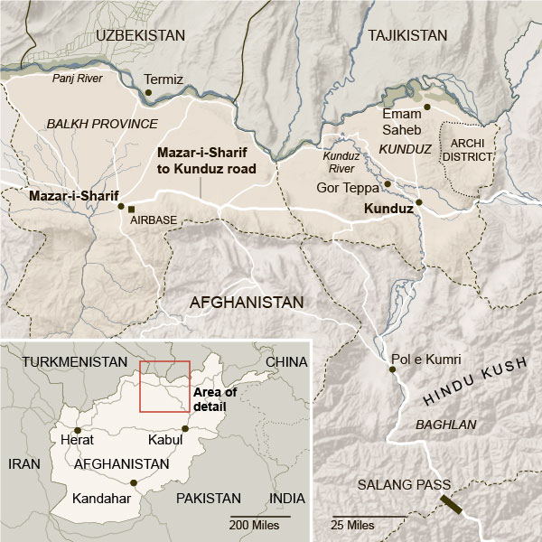 Kunduz Province and beyond in Northern Afghanistan.