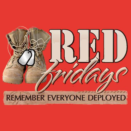 Wear RED on friday's to show your support.