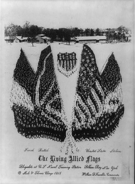 Allied flags, 1918