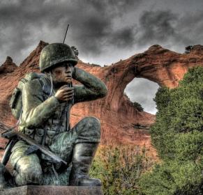 Window Rock, Az Memorial for the Navajo Code Talkers
