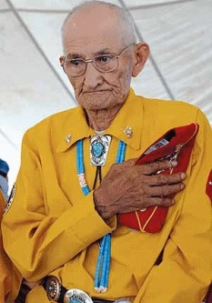 George Smith, a member of the famed Navajo Code Talkers