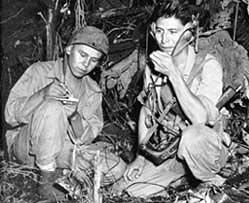 Navajo Code Talkers=so smart, so amazing! It was these brave men who were able to completely confuse the enemy (the Japanese at the time). It was the one code that the Japanese army could never decipher.