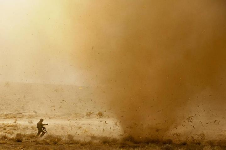 dust devil in Afghanistan