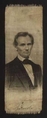 A. Lincoln campaign ribbon, 1860