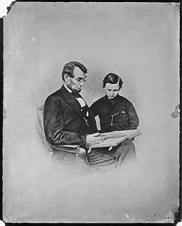 President Abraham Lincoln and Tad Lincoln by The U.S. National Archives
