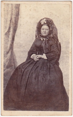 The widow Mary Lincoln