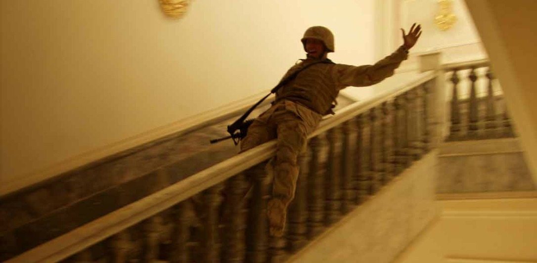 US Soldier in Saddam's home, Iraq