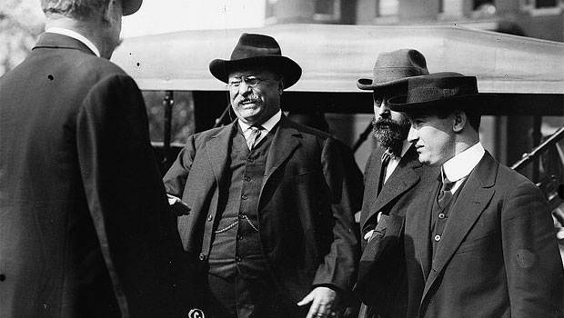 Theodore Roosevelt shortly before John Schrank made an attempt on his life. (Library of Congress)