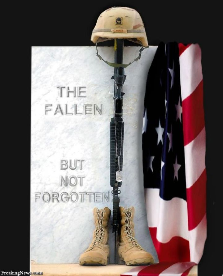 Never forget the sacrifices