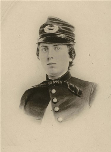 - This undated file photo provided by the Wisconsin Historical Society shows First Lt. Alonzo H. Cushing. WISCONSIN HISTORICAL SOCIETY, FILE — AP Photo