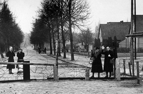 Precursor: At the end of World War II, Germany was divided into four zones. While the French, British and American cooperated, the Soviet zone grew more isolated. This fence separated friends in Berlin in 1953.