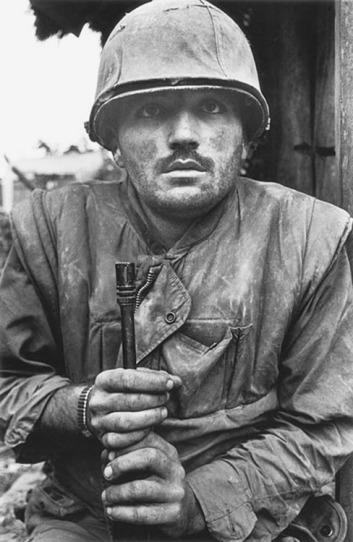 Shellshocked US Marine, Hue, Vietnam.