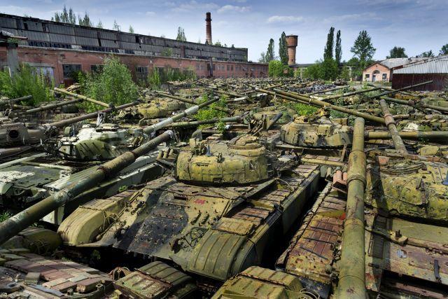 Ukrainian Tank Graveyard