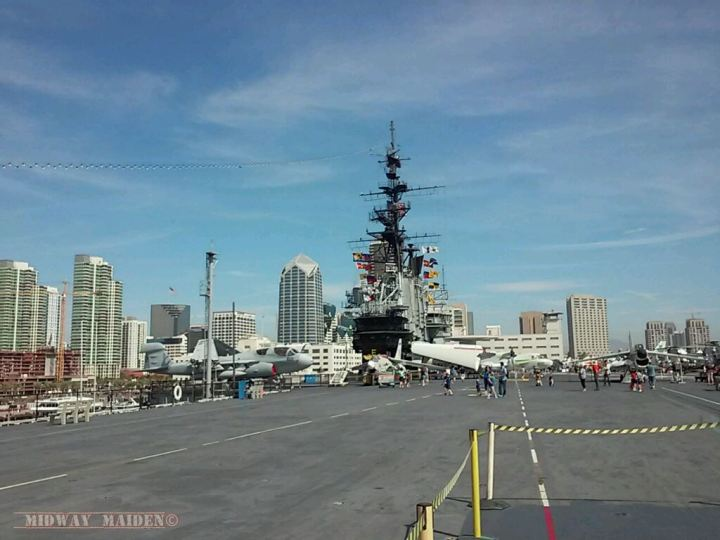 USS Midway flight deck, stern