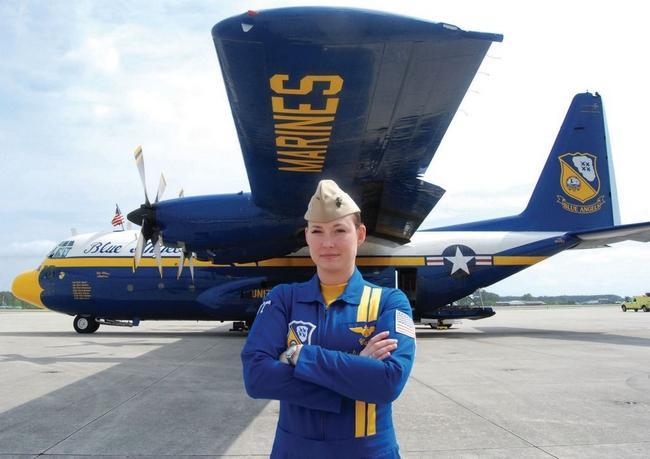Fat Albert pilot a first for BlueAngels