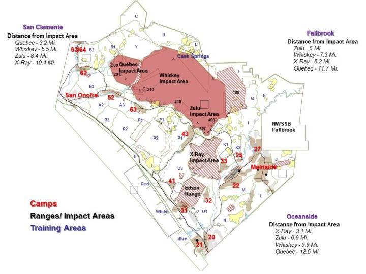 Camp pendleton impact area