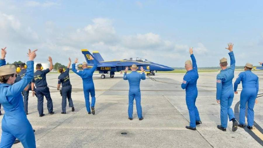 Blue Angels take back to the sky