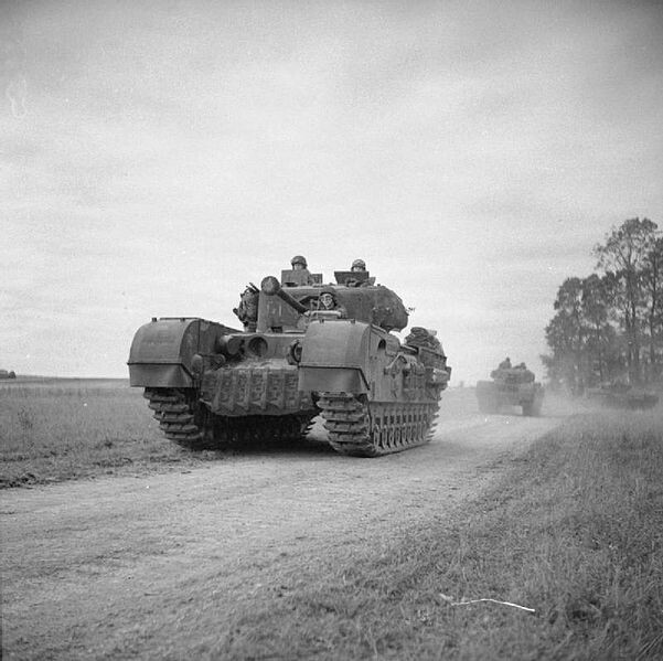 Churchill tanks of WWII